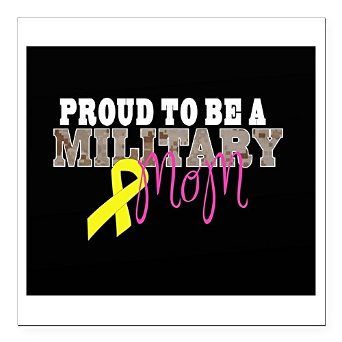 CafePress - Proud to Be Military Mom Square Car Magnet 3