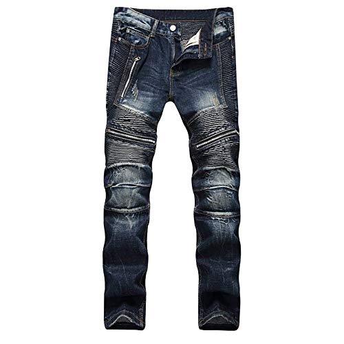 Pantaloni Estilo Dritti Uomo Vintage Especial Dunkelblau Slim Cotton Da Comodi Jeans Fashion Fit Morbidi Ssig fwB1qB