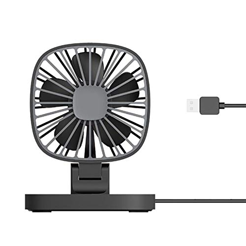 (Car Fun Car USB Small Fan 360 Degree Rotation Power Supply for Home Solar Fan,Black)