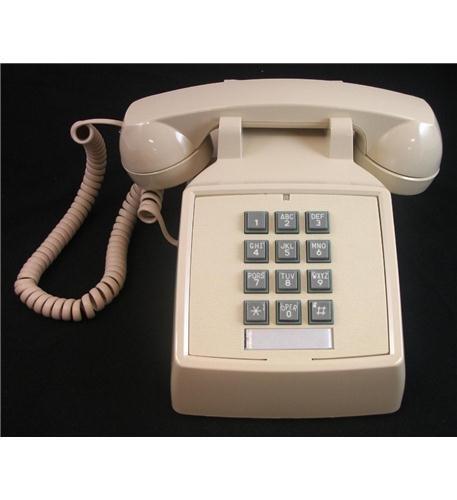 (Cortelco 2500-V-IV 250009-VBA-20M Desk w/ Volume IVORY)