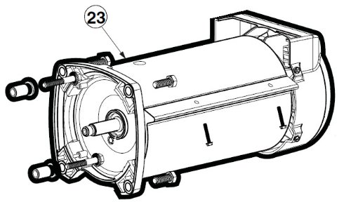 Hayward SPX3400Z1ECM 2.7-Horsepower Motor Assembly Replac...