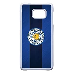 Generic hard plastic Leicester City FC logo Cell Phone Case for Samsung Galaxy S6 Edge Plus White ABC8357145
