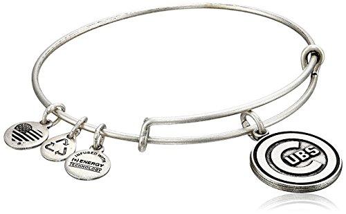 (Alex and Ani Chicago Cubs Cap Logo Expandable Rafaelian Silver Bangle Bracelet)