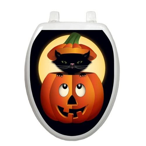 Peek-a-boo Kitty Toilet Tattoo TT-H702-O Elongated Halloween Seaonsal 30%OFF