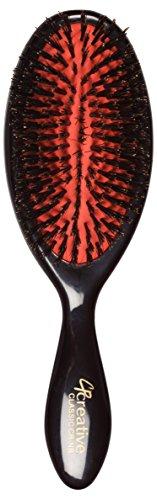 Creative Hair Brushes Classic Petite Natural Boar Bristles -Black