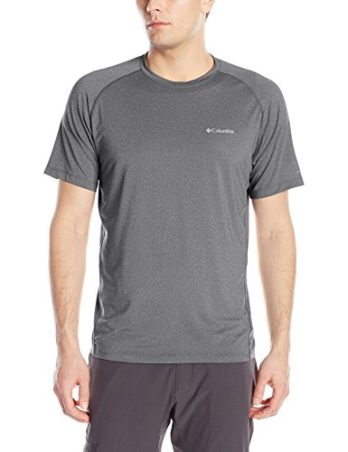 Columbia Tuk Mountain Mens Short Sleeve Shirt, Graphite Heather, Medium