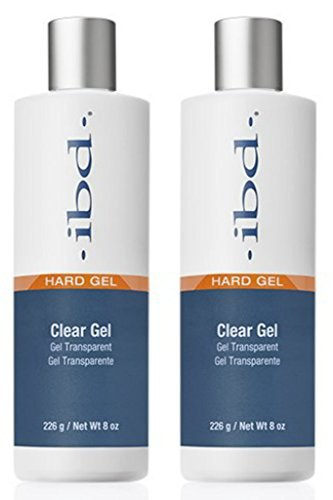 ibd HARD GEL clear gel Provides a thin, clear and shiny surface that looks and feels completely natural. Perfect for natural nail overlays. - Size 8 oz , 226 g (Pack 2)