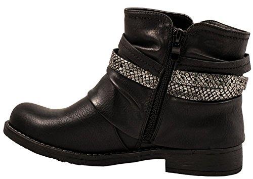Biker Boots Elara Elara WoMen Biker Black Boots WoMen Black Elara 4O8x0wCq