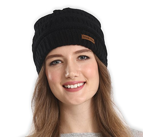 Styles Cold Weather Hats - Brook + Bay Women's Cable Knit Beanie - Thick, Soft & Warm Chunky Beanie Hats for Winter - Serious Beanies for Serious Style (with 8+ Colors)