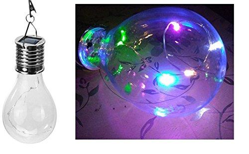 sazu itou 4 pieza LED Botella lámpara solar multifuncional Outdoor Que Cambian batería LED Jardín Lámpara - Lámpara esférica en varios. tamaños - 7 colores: ...