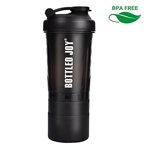 BOTTLED JOY Protein Shaker Bottle 20 oz BPA Free Sports Wate