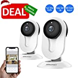 SMONET Security Camera Wireless, HD Wireless IP Camera Built in Two-Way Audio, Security Surveillance CCTV Camera with Night Vision-Cloud Service Available (2packs,White) Review