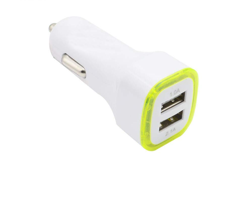 Yellow, None U Car Charging Accessories Dual USB Car Charger Adapter 2 USB Port Led 5V1A Smart Car Charger for iPhone