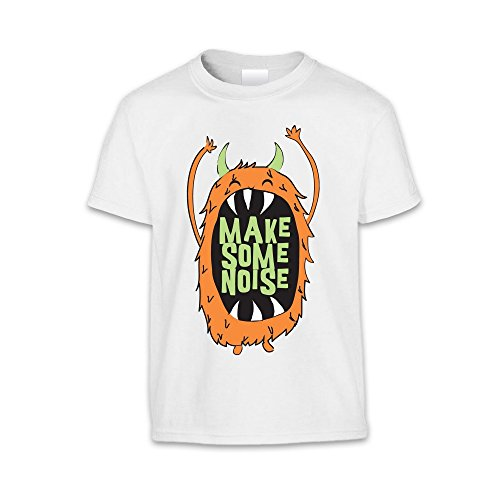 The T-Shirt Factory T-shirt Make Some Noise - Enfant mixte Blanc