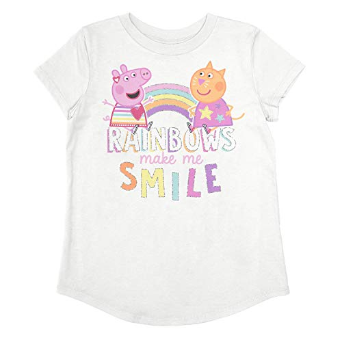 (Jumping Beans Little Girls' Toddler 2T-5T Peppa Rainbow Tee 5T)