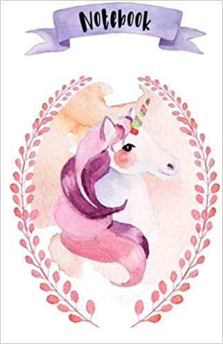 Notebook: A5 - 120 pages - Licornes - Couverture souple ...