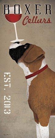 Boxer Cellars Ryan Fowler Advertisements Vintage Ads Dogs Wine Print Poster