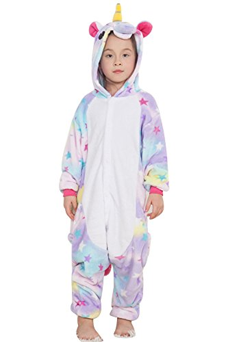 JYUAN Kids Soft Unicorn Onesie Animal Pajamas Halloween