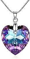 """""""Zucel Heart"""" 925 Sterling Silber Anhängerkette mit Vitrail Swarovski-Kristallen von GoSparkling"""