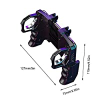 Accrie K21 PUGB Helper 4 Finger Linkage Game Handle Peace Elite Fast Shooting Button Controller for PUBG Rules of Survival Game Trigger Joystick Gamepad for iOS Android Phone