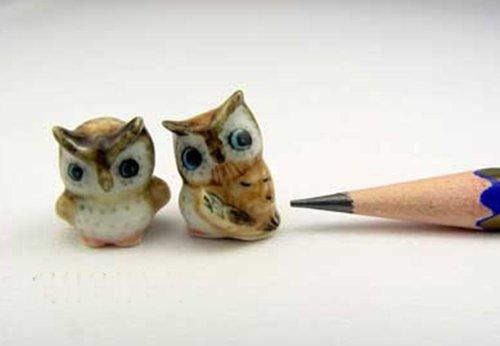 3 D Ceramic Toy Mini owl Dollhouse Miniatures Free Ship (Dog Elf Outfit)