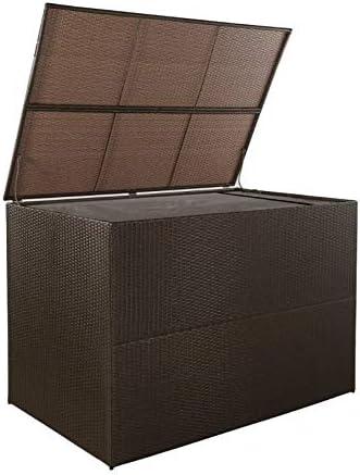 Zerone Arcón Exterior, Caja de Almacenamiento Impermeable para el Jardín, Marrón 150 x 100 x 100 cm: Amazon.es: Hogar