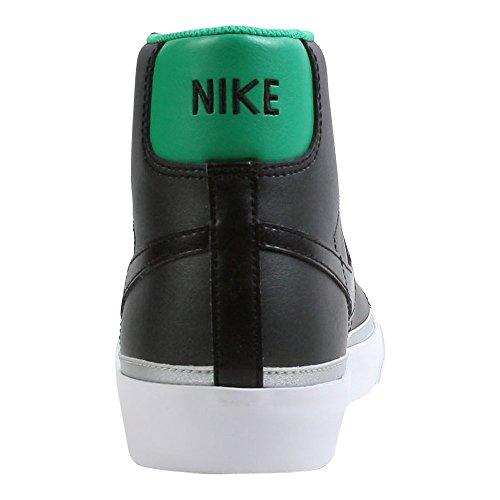 Nike Blazer Mi 09 Nd Noir / Noir-chanceux Vert-métallique Argent 371761-003 Chaussure