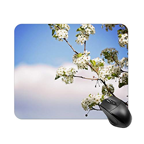Atunme Mouse Pad Photography of Cherry Blossoms Mousepad Non-Slip Rubber Gaming Mouse Pad Rectangle Mouse Pads for Computers Laptop]()