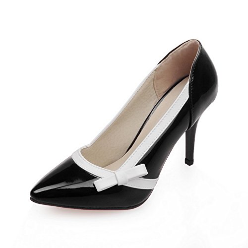 Balamasa Womens Inchini Tomaie Basse Tacchi A Spillo Stiletti Pompe Urethane-scarpe Nere