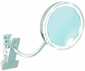 Enzo Rodi Athene 411610 - Espejo con LED y pinza (10,5 cm), marco metálico