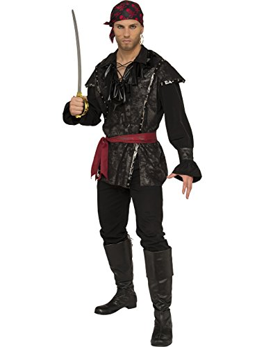Pirate Family Costumes (Rubie's Costume Co. Men's Plundering Pirate Costume, As Shown, Standard)