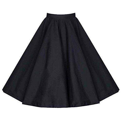 YiLianDa Falda Mujer Elástica Plisada Básica Patinador Multifuncional Lunares Corto Falda Negro