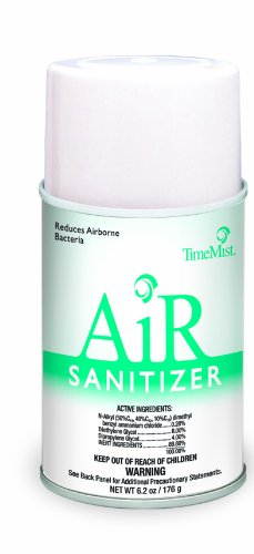 TimeMist 912801TM Air Sanitizer Metered Refill, Aerosol, Lime, 6.2oz (Case of 12) (6.2 Ounce Aerosol)