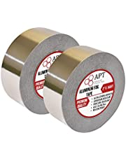 APT, Aluminum Foil Tape, (2'' x 50 Yds (150ft)), HVAC Heavy Duty Dust Tape for Sealing, Insulation, Repair and More Application.