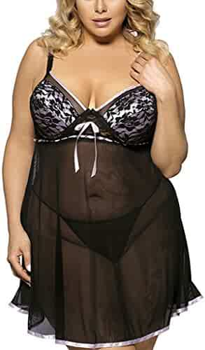 200e4aed65fab ... Strap Lace Chemise Sleepwear Set. seller: Oheetu. (25). Wantmore  Lingerie for Women Plus Size Chemises Push-up Babydoll Nightgowns