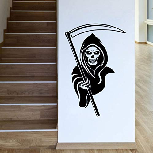 TWJYDP Wall Stickers Wallstickers Grim Reaper Halloween Home Decoration Accessories Skull with Sickle Wall Decals for Kids Rooms 44X67Cm ()