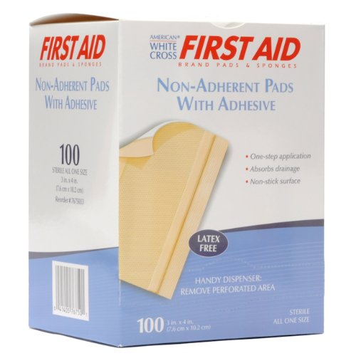 Gauze Dressing Non Adhering With Adhesive 3''x 4'' 100/bx