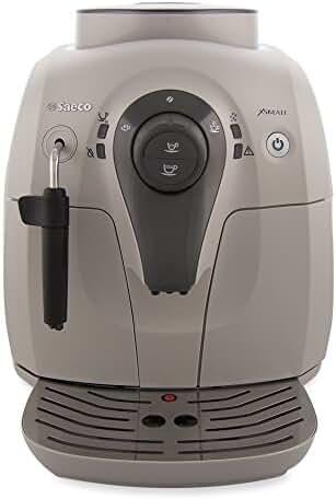 Saeco Xsmall HD8645/57 Superautomatic Espresso Machine - White & Beige (Certified Refurbished)