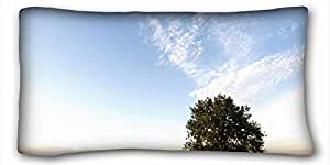 Soft Pillow Case Cover Nature Custom Cotton & Polyester Soft Rectangle Pillow Case Cover 20x36 inches (One Side) suitable for King-bed