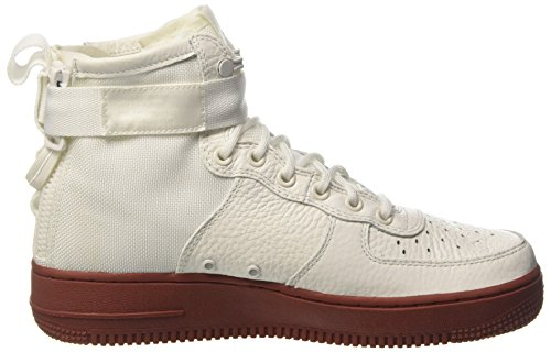 Nike Hommes Sf Air Force 1 Mi Chaussures Ivoire / Mars Pierre / Ivoire 917753-100 Taille 13