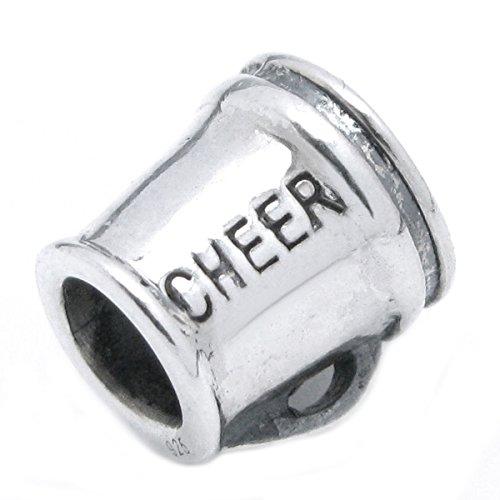 Sterling Silver Cheerleader Megaphone European Style Bead ()