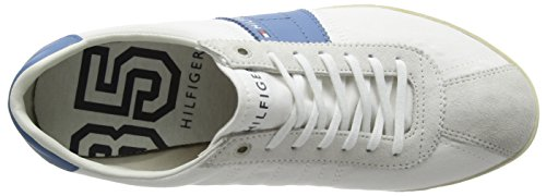 P2285Layoff White para Hilfiger 100 Tommy Heaven 1 Weiß Hombre Blanco 1C Zapatillas Blue aB5KOKqwfx