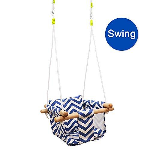 outdoor baby swing wood - 3
