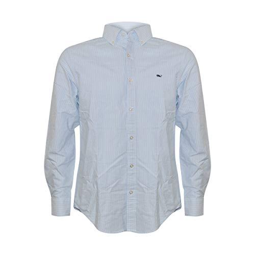 Vineyard Vines Men's Whale Shirt Button Down Dress Shirt (Striped Oxford Moonshine, S) -