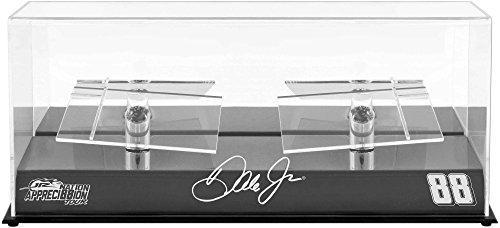 Sports Memorabilia Dale Earnhardt Jr. #88 Hendrick Motorsports 2 Car 1/24 Scale Die Cast Display Case with Platforms and JR Nation Appreci88ion Logo
