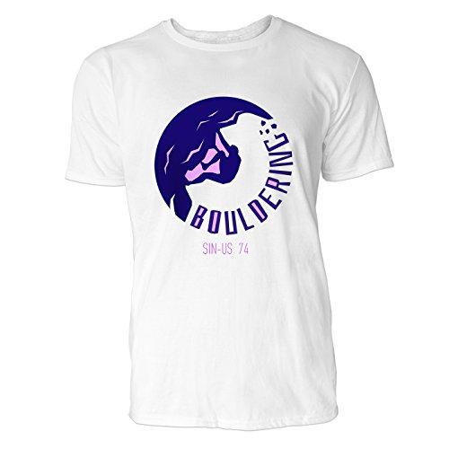 SINUS ART® Vintage Label – Trekking Herren T-Shirts in Weiss Fun Shirt mit tollen Aufdruck