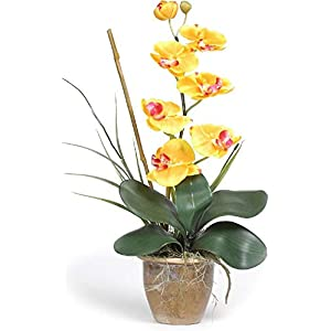 Nearly Natural Single Stem Phalaenopsis Orchid Silk Flower Arrangement 95