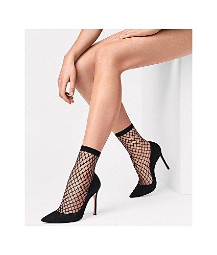 Wolford Women's Tina Summer Net Sock Black Medium