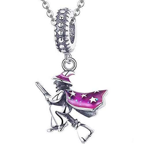 ABAOLA Halloween Witch Charm Authentic 925 Sterling Silver