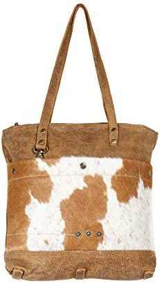 Myra Bag Hazel Opulence Cowhide Leather Tote Bag S-1276